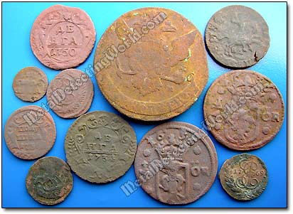 Coins chosen for Patination