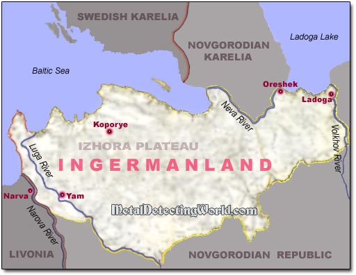 Novgorodian Ingria Ingermanland in 15th Century