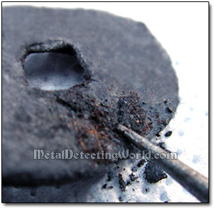 Removing Black Carbonate/Crusted Magnetite (Black Rust) with Awl