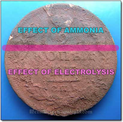 Effects of Two Coin Cleaning Processes - Electrolysis and Ammonia Bath