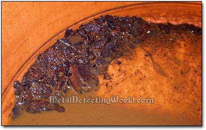 Rust Came Off Iron Relic & Precipitated on Bottom