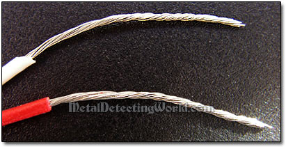 Bare Wire Ends with Twisted Strands