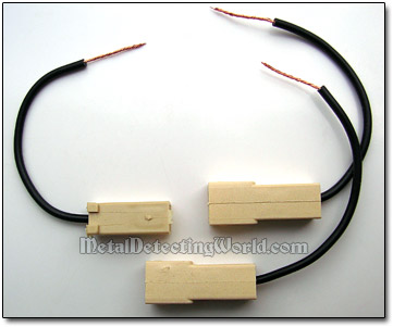 Wired Male & Female Plugs for Negative Wire