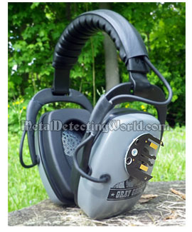 DetectorPro Wireless Grey Ghost Headset for XP Deus