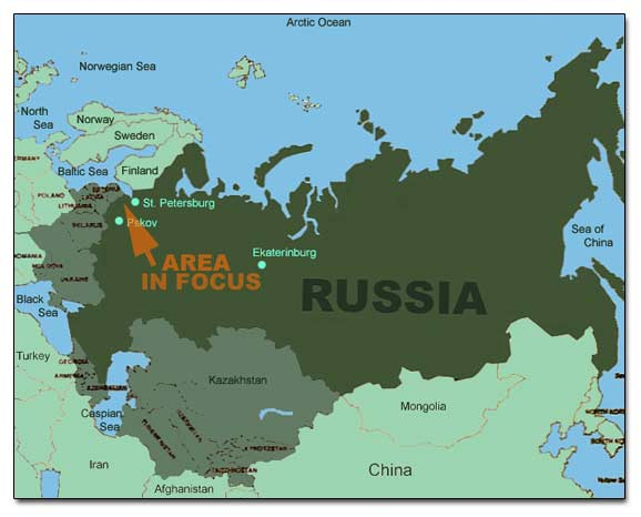 General Map Of Russian Federation