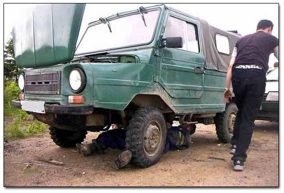 Russian Legendary Jeep Under Repair