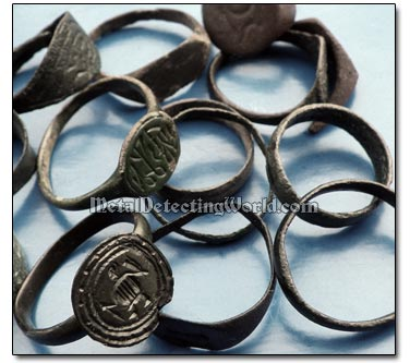 Dug Late Medieval Signet Rings
