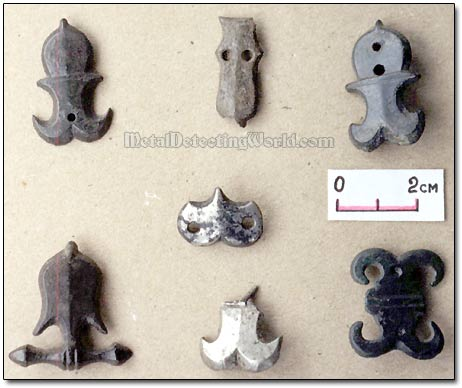 White Bronze Belt Fittings Studs