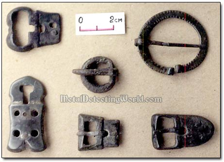 Bronze Fibula & Shoe Buckles