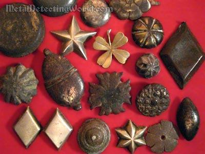 Selection of Harness & Belt Decorative Studs, circa Post-Medieval (16th-19th centuries)