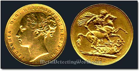 Victorian 1872 Gold Sovereign