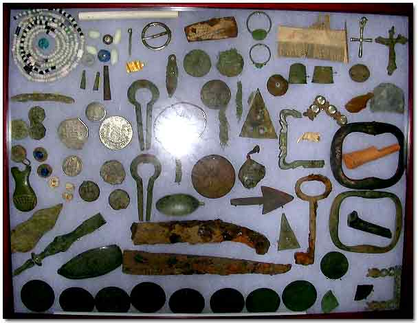 Relics and Coins Recovered