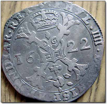 Silver 1622 1 Patagon (Spanish Netherlands)