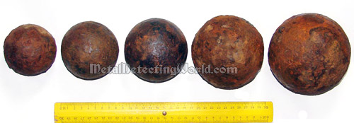 Five Cannon Balls Dug Out in One Day