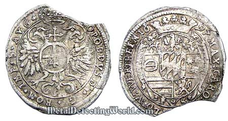 1697 Austrian Silver Coin, Coalition War Battlefield