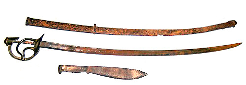 Civil War Sabre with Sheath and Knife