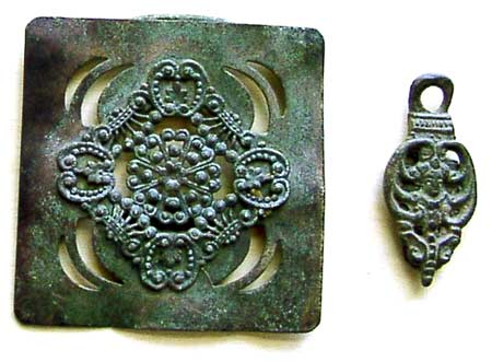Bronze Decorative Plate and Pendant