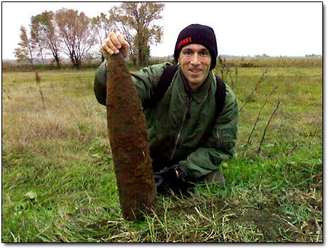 WW2 Unexploded Artillery Projectile