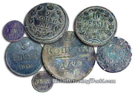 Russian and Finnish Copper Coins