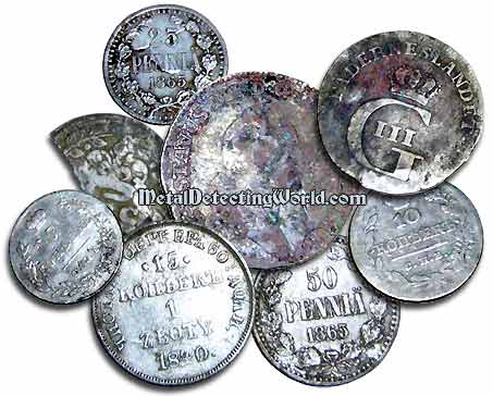 Silver Russian, Swedish and Finnish Coins