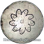 Colonial Silver Plate Coat Button