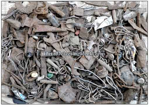 Iron Junk Recovered During One Relic Hunting Session
