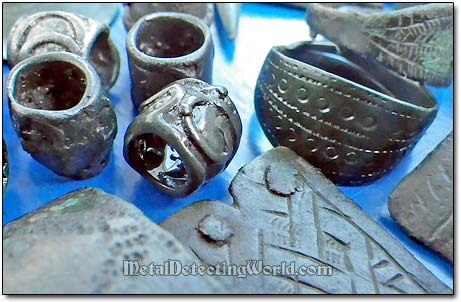 Medieval Bronze Bids and Bracelet Fragments
