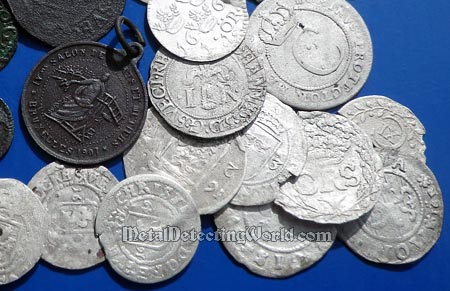 Thin-Sectioned Silver Milled Coins Found with E-Trac Search Program #3