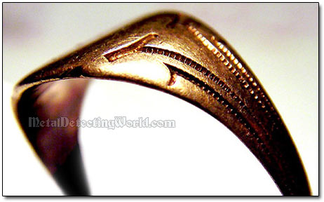 Vintage Rose Gold Signet Ring