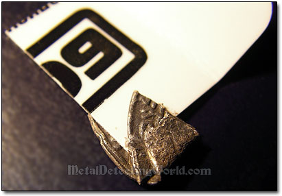 Straighten Folded Silver Hammered Coin - Step 1