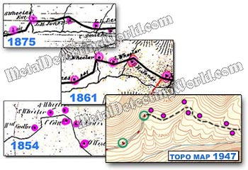 Map Research: Comparing Old Historical and Modern Topographic Maps