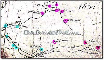 Beer's Map Issued in 1854