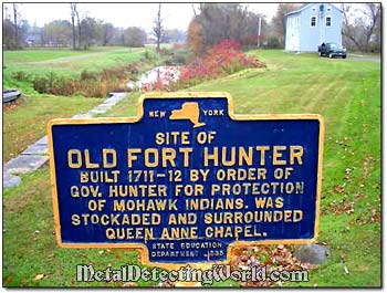 Historical Marker Fort Hunter New York State