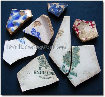 Pre-19th and 19th Century Porcelain China Shards