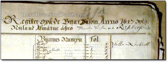Swedish Land Register Book, circa 1647
