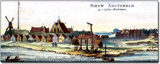 Old Print of New Amsterdam (New York)