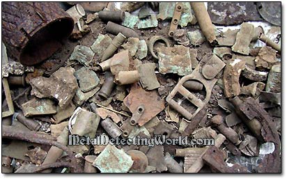 WW2 Military Junk Items Dug Up