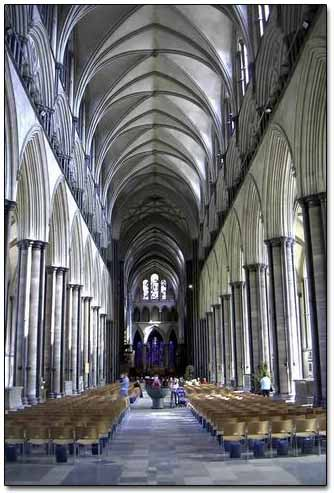 Inside The Salisbury Cathedral