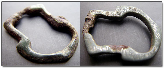 Medieval Bronze Shoe Buckle AD III-V