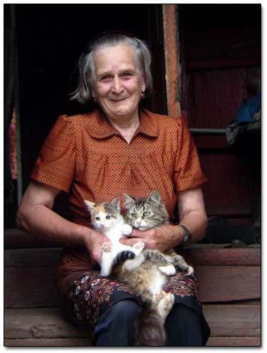 Grandma Olga And Her Kitties