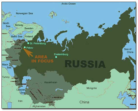 General Map Of Russia