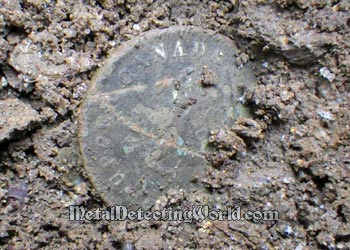 Coin Is Dead Frozen into Ground
