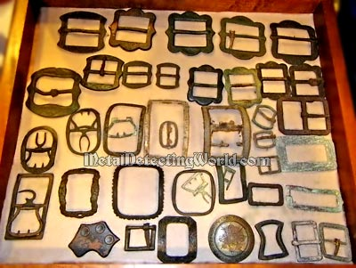 Collection of Colonial and Rev War Belt and Shoe Buckles