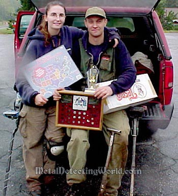 Shelly and Serge Won All Prizes at CASH BASH 2002 Metal Detecting Competition Hunt