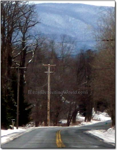 Driving on State Route 2 Towards Taconic Mountains