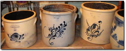 Stoneware Crocks Made by West Troy Pottery, ca. 1845-1899