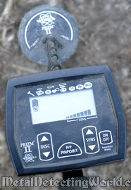 Control Panel of White's Prizm II Metal Detector