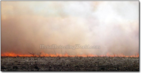 Dry Grass Burning Controlled by Farmers