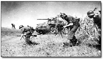 German Forces Attack