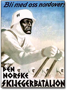 German SS Ski Battalion Poster
